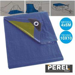 Toldo Resistente 4x6m Azul Perel - (110-0406)