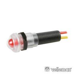 LED Piloto À Prova De Água 12V Vermelho VELLEMAN - (12VTFR)