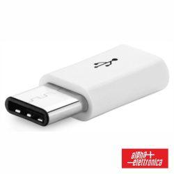 Ficha Adaptadora USB-C Macho / Micro USB-B Fêmea - (64-540)