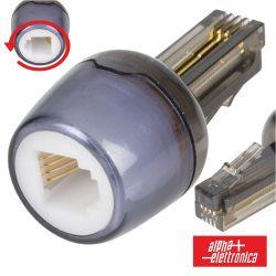 Adaptador De Telefone 4p4c Rotativo - (94-300)