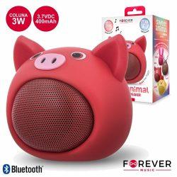 Coluna Bluetooth Portátil 3W Modelo Porco FOREVER - (ABS-100PR)
