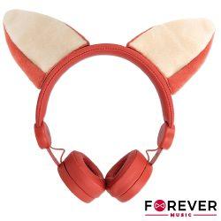 Auscultadores Stereo C/ Fios Raposa C/ LEDS FOREVER - (AMH-100F)