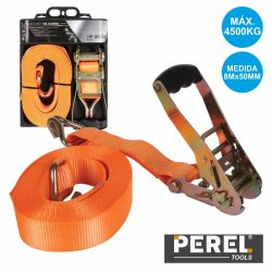 Cinta Segurança C/ Roquete E Gancho 4500kg 50mmx8mt Perel - (ARAT5081)