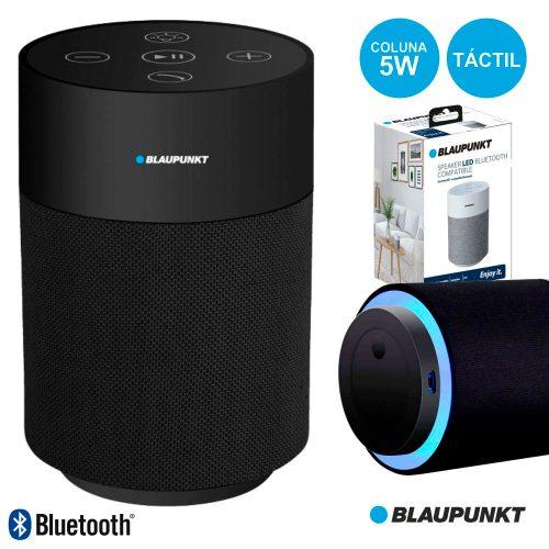 Coluna Bluetooth Portátil 5W Bat Mic Táctil Preto BLAUPUNKT - (BLP3830.133)
