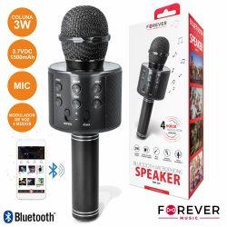 Microfone C/ Coluna 3W Bluetooth USB/SD Bateria - (BMS-300BK)