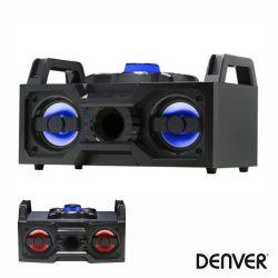 "Sistema Som Portátil 2x4"" BT/FM/Rec LEDS DENVER - (BTB-60)"