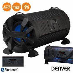 "Coluna Bluetooth Portátil 6.5"" 30W LEDS USB/Aux/Bat DENVER - (BTL-300)"