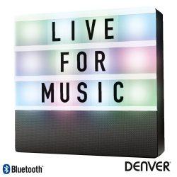 Coluna Bluetooth Portátil C/ Placa Mensagens Bat LED DENVER - (BTL-50)
