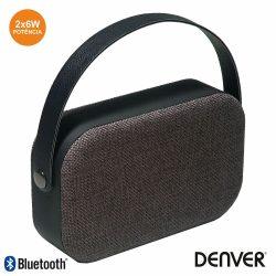 Coluna Bluetooth Portátil 2x3W Mala Aux/Bat Preto DENVER - (BTS-63BLACK)