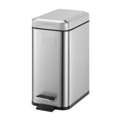 Caixote De Lixo Aço Inoxidável C/ Pedal BLACK DECKER - (CLP01)