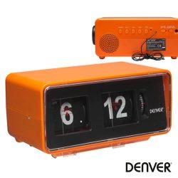 Relógio Despertador FM Pll Retro Laranja C/ Palhetas DENVER - (CR-425)