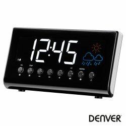 Relógio Despertador AM/FM/Temp Visor LED DENVER - (CR-718)