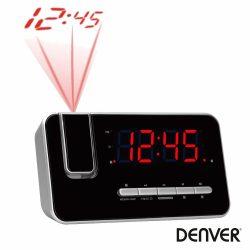 Relógio Despertador C/ Projeção 180º AM/FM DENVER - (CRP-618)