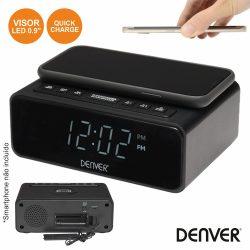 Relógio Despertador FM Pll Qi DENVER - (CRQ-105)