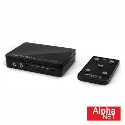 Distribuidor Comutador HDMI 3 Entradas 1 Saída ALPHANET - (CT210/1/5)