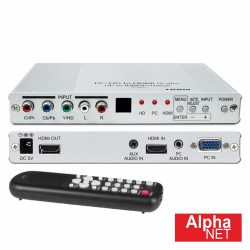 Distribuidor Comutador Componentes/HDMI P/ HDMI Alphanet - (CT350)
