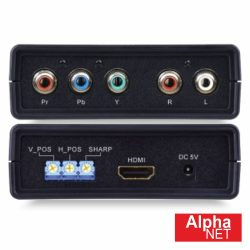 Distribuidor Componentes + Áudio P/ HDMI Alphanet - (CT354/1)