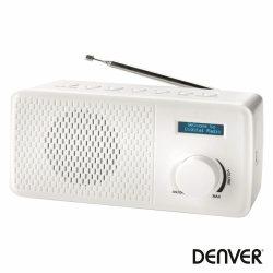 Rádio AM/FM C/ Tela Lcd Branco DENVER - (DAB-41WHITE)