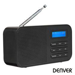Rádio FM Dab+ C/ Tela Lcd Preto DENVER - (DAB-42BLACK)