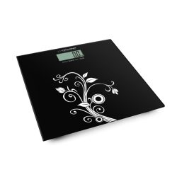 Balança Corporal 180kg Digital Vidro Preta - (EBS003)