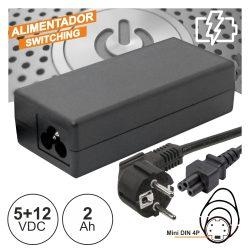 Alimentador Switching 5v+12V 2a P/ Discos Rigidos - (FASUNI2A1)