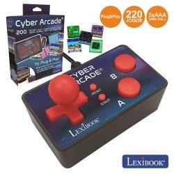 Controlador De Jogos P/ TV C/ Cabo Av E 200 Jogos Arcade - (JG6500)