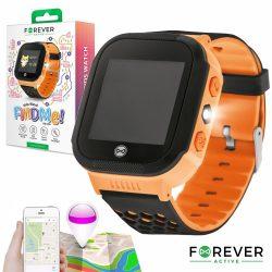 Smartwatch Gps Gprs Sim Criança Laranja FOREVER - (KW-200OR)