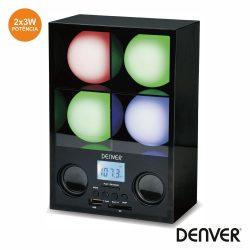 Coluna C/ Projetor Luz Mp3/SD/USB/Rádio DENVER - (LR-4)