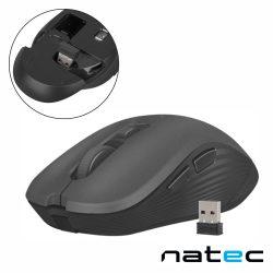 Rato Óptico S/ Fios 800-1600DPI USB Preto NATEC - (NMY-0915)