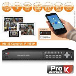 Vídeo-Gravador Digital Ip 36 Canais H264 Ethernet PROK - (NVR36HK)