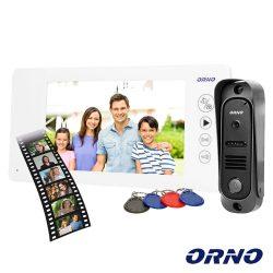 "Vídeo Porteiro C/ Lcd 7"" Cores LEDS IR Branco ORNO - (OR-VID-JS-1053/W)"