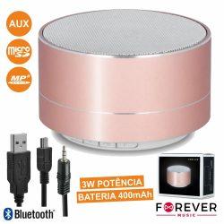 Coluna Bluetooth Portátil 3W USB/Microsd/FM/Bat Ruby - (PBS-100RG)
