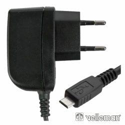 Alimentador Compacto Comutado C/ Micro Usb 5v 500ma Velleman - (PSSEUSB2)