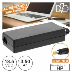 Alimentador P/ Hp 18.5v 3.50a 65W 4.8x1.7mm - (PSUP-NBT-HP05)