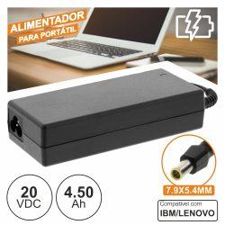 Alimentador P/ Ibm/Lenovo 20v 4.50a 90W 7.9x5.4mm - (PSUP-NBT-LE01)