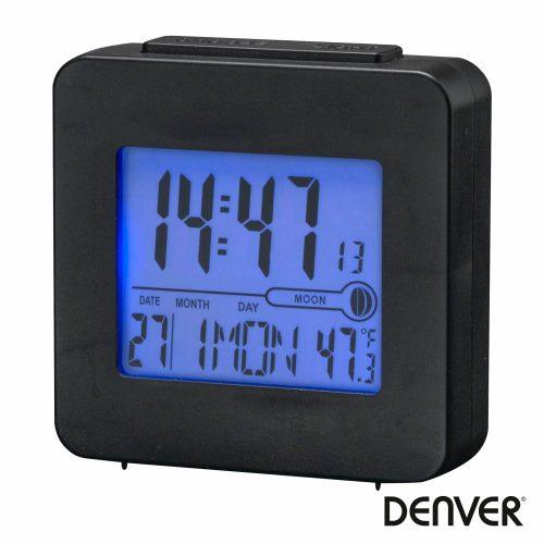 Relógio Despertador AM/FM/Termómetro/Lua Preto DENVER - (REC-34BLACK)