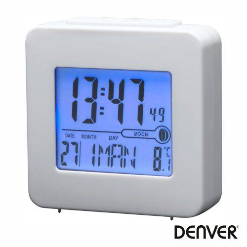 Relógio Despertador AM/FM/Termómetro/Lua Branco DENVER - (REC-34WHITE)