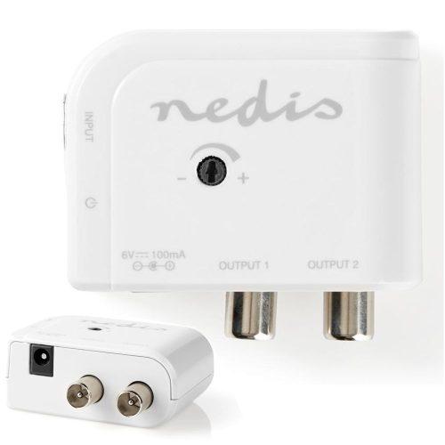 Amplificador De Antena C/ Ajuste e 2 Saídas 15dB - (SAMP40020WT)