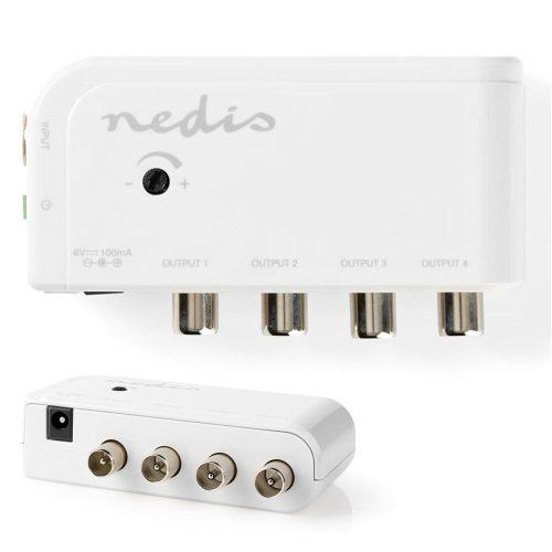 Amplificador De Antena C/ Ajuste e 4 Saídas 10dB - (SAMP40040WT)