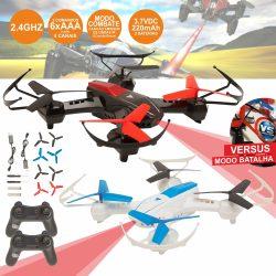 2 Drones Combate C/ Transmissor 2.4 Ghz De 4 Canais - (SKYFIGHTERS)