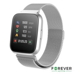 SmartWatch Multifunções P/ Android iOS Silver FOREVER - (SW-310S)