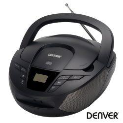 Rádio Portátil PLL FM/CD/AUX Colunas 2x1Wrms DENVER - (TC-28BLACK)