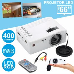 Vídeo Projetor LEDS RGB USB/SD/HDMI Comando/Bateria - (VPU18B)